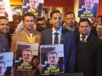Celebrating Gotabhaya Rajapaksa's victory  in Milan Italy